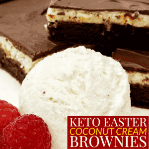 Keto Easter Coconut Cream Brownies