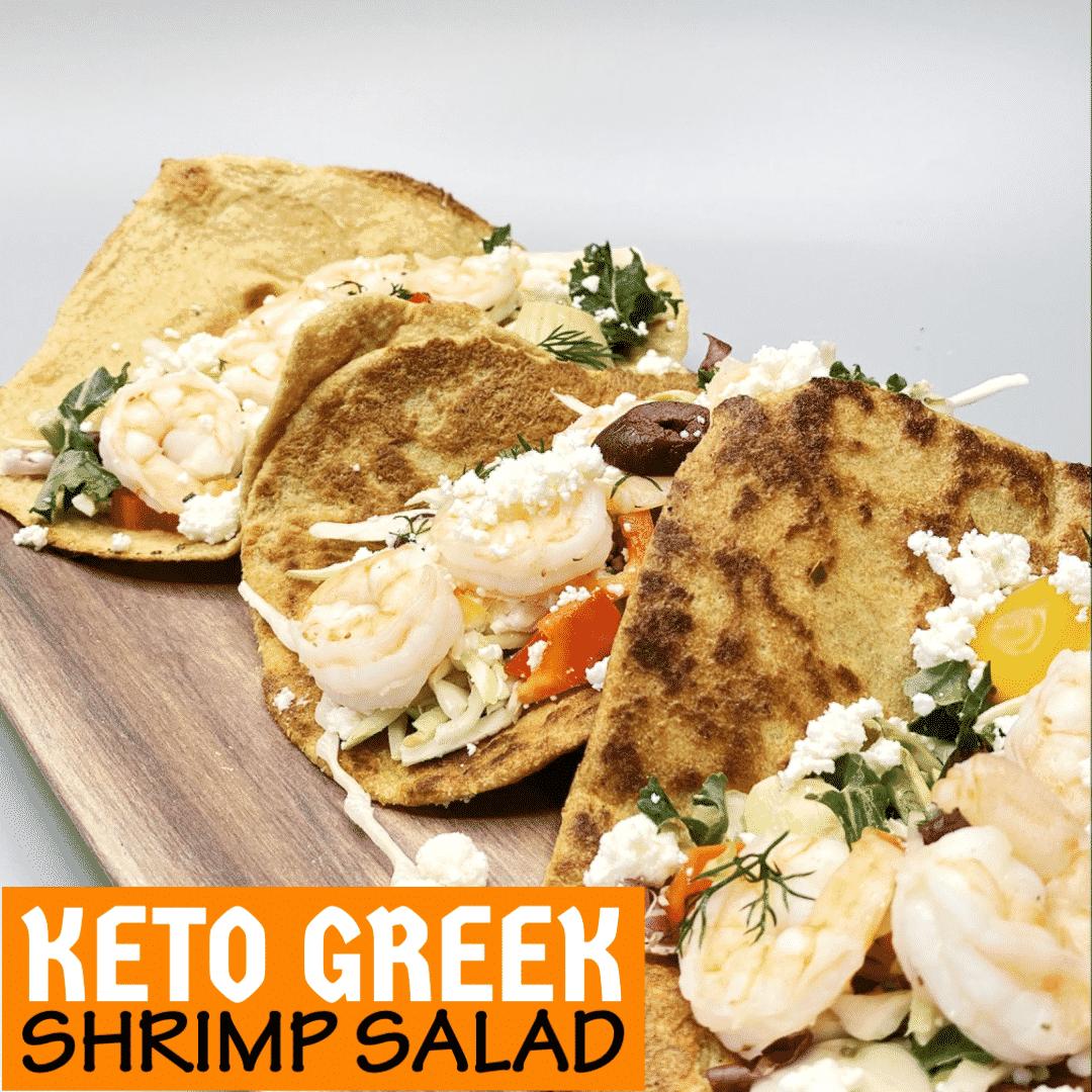 Keto Greek Shrimp Salad