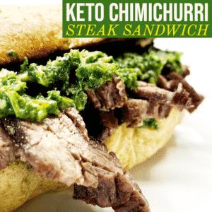 Keto Chimichurri Steak Sandwich