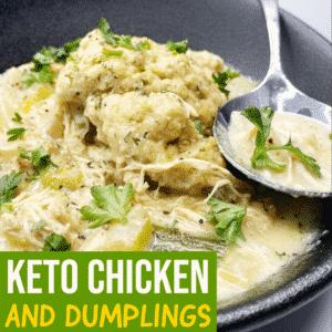 Keto Chicken and Dumplings