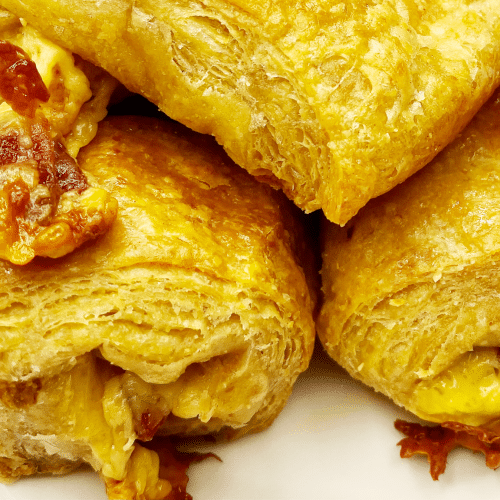 Keto Bacon Croissants