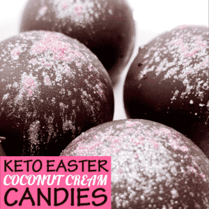 Keto Easter Coconut Cream Candies