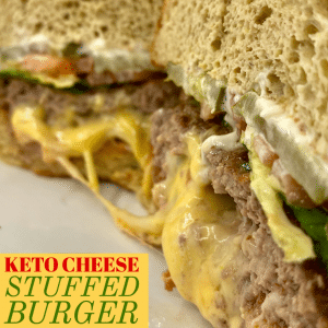 Keto Stuffed Burger