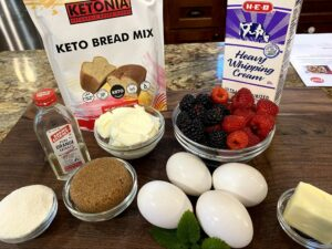 Keto Overnight Berry French Toast