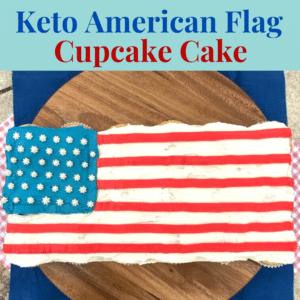 Keto American Flag Cupcake Cake