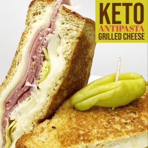 Keto Antipasta Grilled Cheese