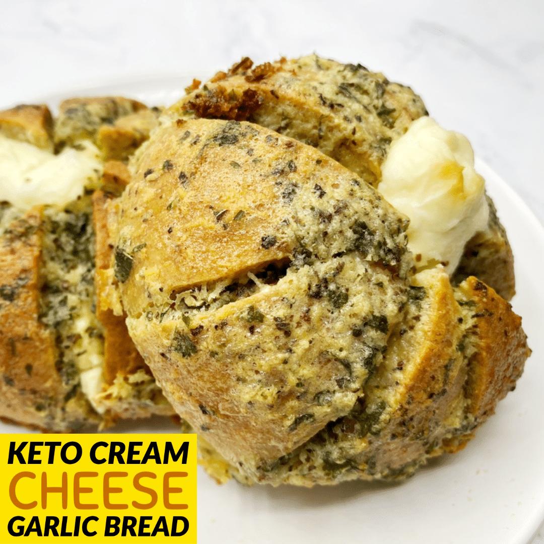 Keto Cream Cheese Garlic Bread