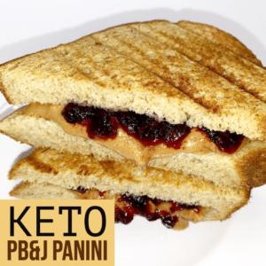Keto pb&j panini