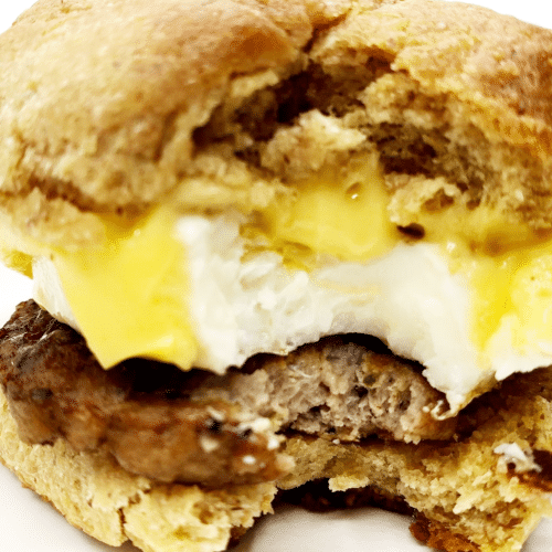 keto Sausage Egg and Cheese Biscuit