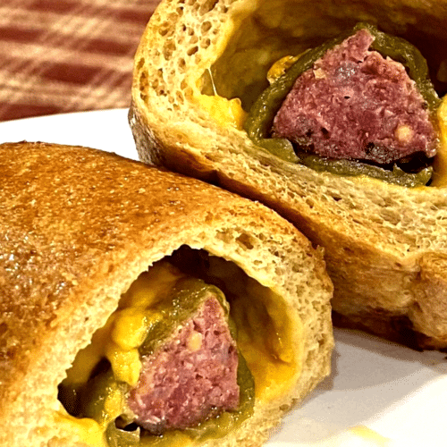 Keto Hatch Chile, Sausage, and Cheese Klobasniky