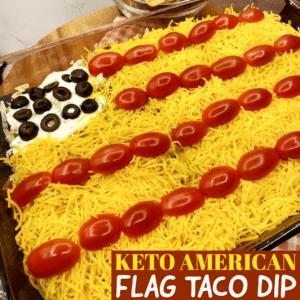 Keto American Flag Taco Dip