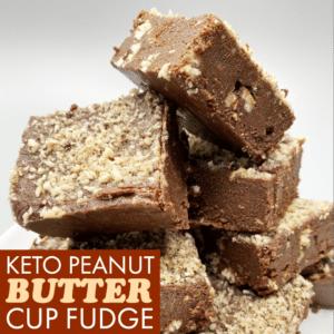 Keto Peanut Butter Cup Fudge