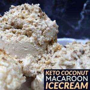 Keto Coconut Macaroon Icecream