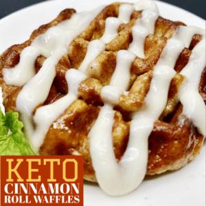 Keto Cinnamon Roll Waffles