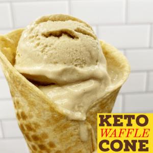 Keto Waffle Cone