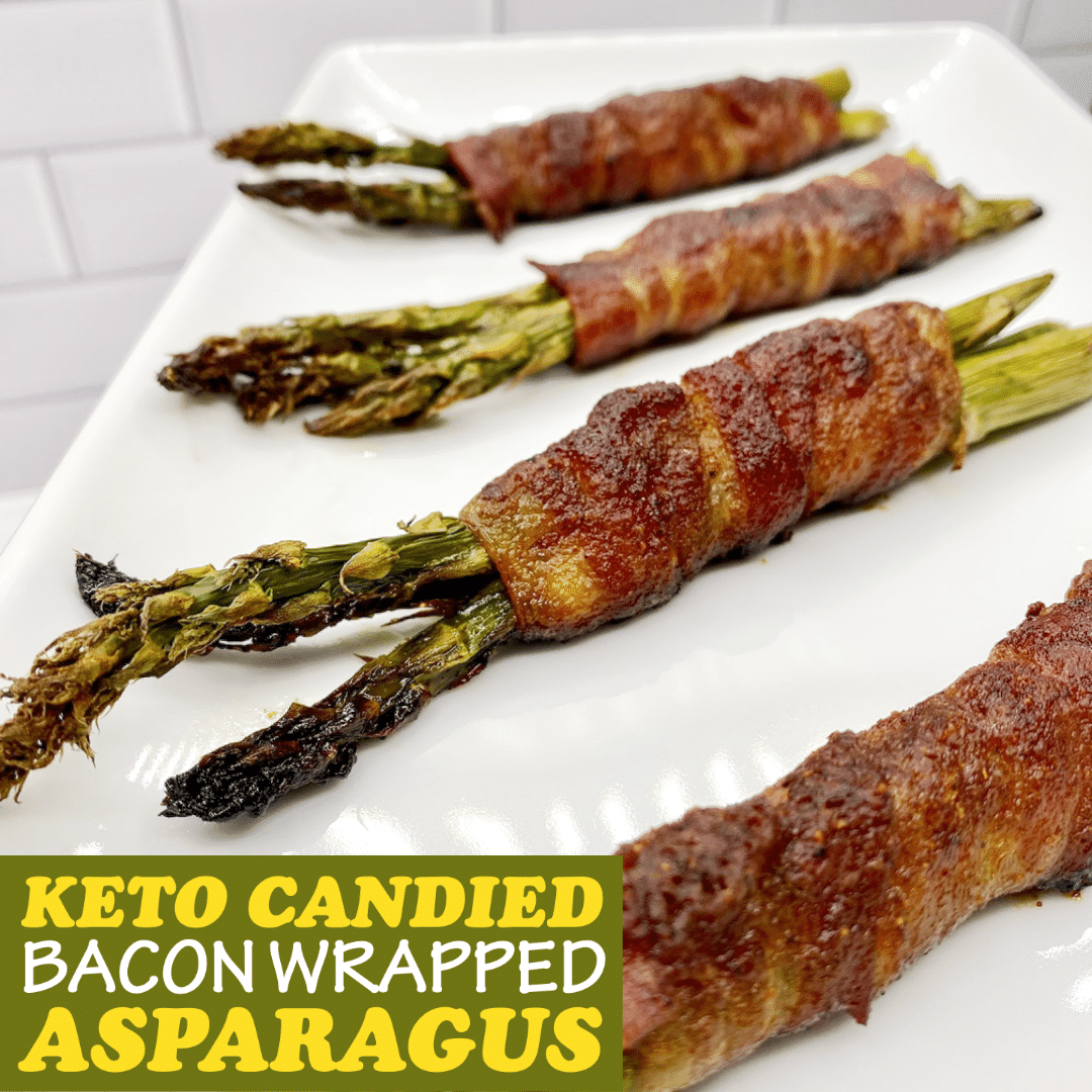 Keto Candied Bacon Wrapped Asparagus