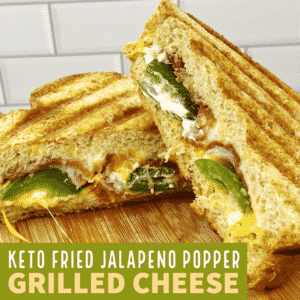 Keto Fried Jalapeno Popper Grilled Cheese Sandwich