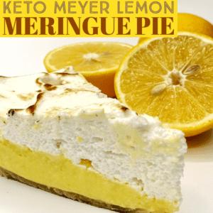 Keto Meyer Lemon Meringue Pie