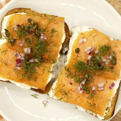 Keto Danish Open-Faced Sandwich