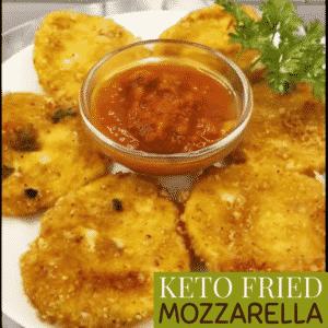 Keto Fried Mozzarella