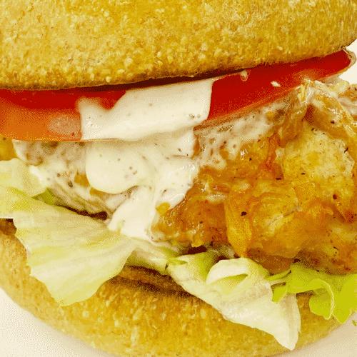 Keto Fried Hot White Alabama Chicken Sandwich WP