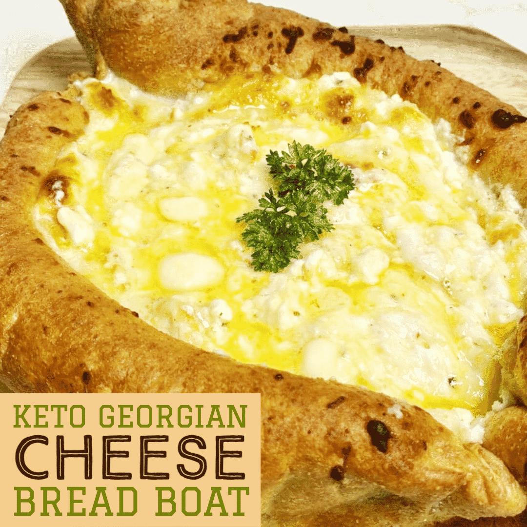 Keto Georgian Cheese Bread Boat