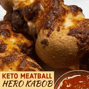 Keto Meatball Hero Kabob